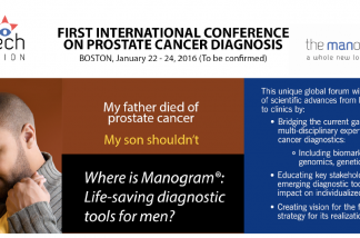 First International Conference on Prostate Cancer Diagnosis