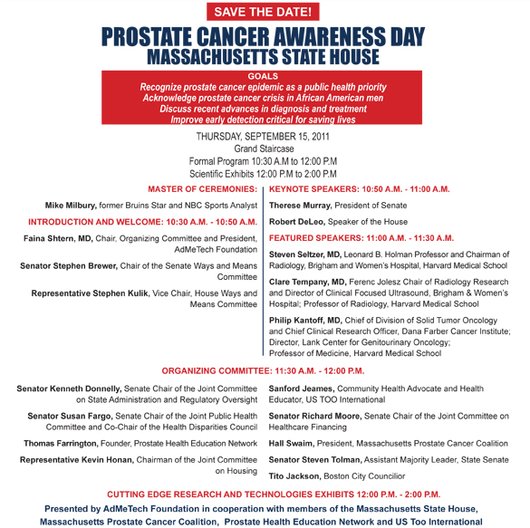 Third annual prostate cancer awareness day flyer admetech