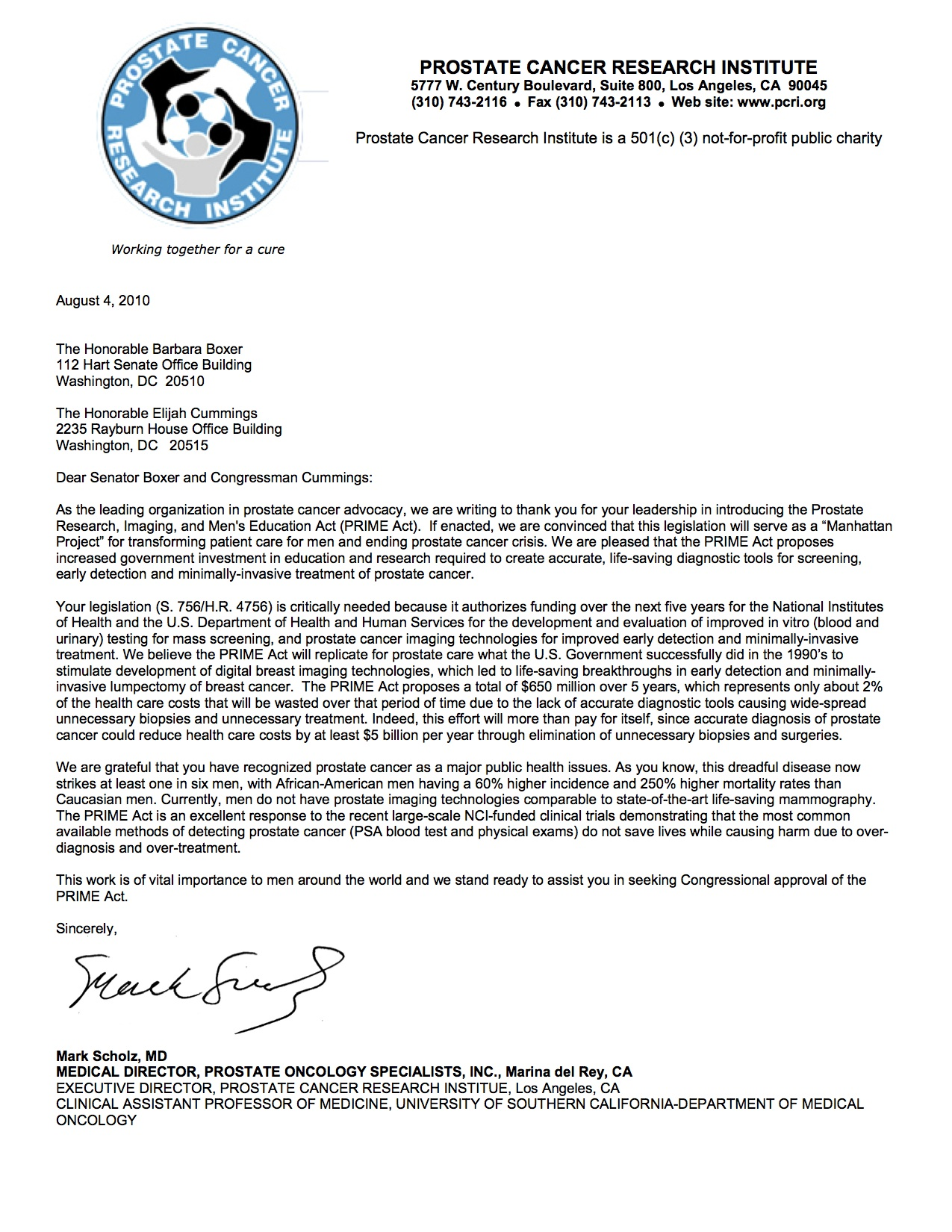 Advocacy supports prime act admetech for Advocacy letter template